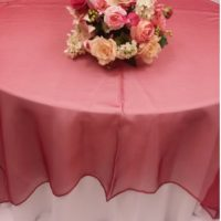 Apple Red Organza
