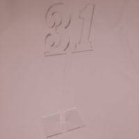 Clear Acrylic Table Number
