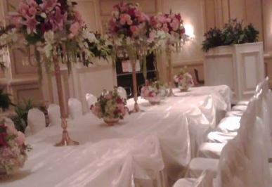 Ivory satin underlay with Ivory organza overlay