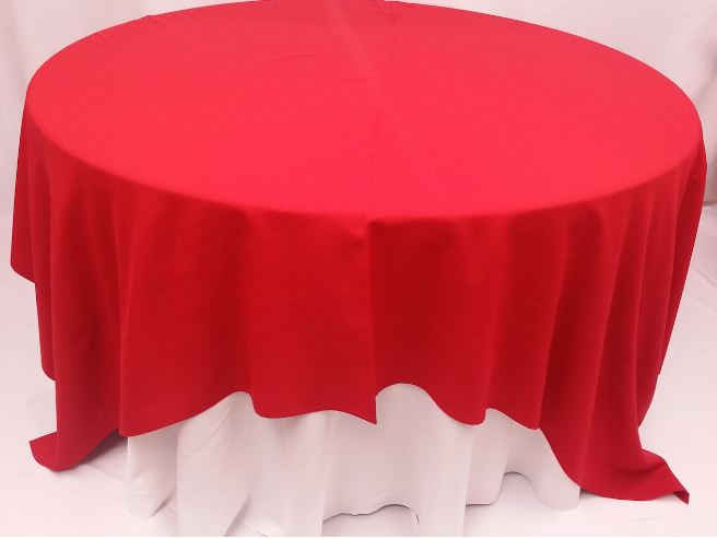 Red 90x90 All Seasons Party Linen Rental
