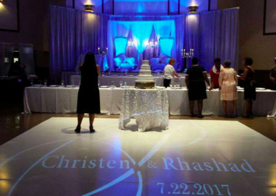 Custom gobo lighting and stage desing