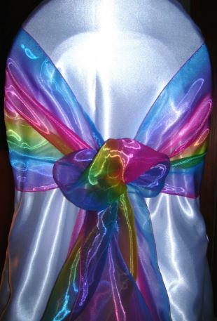 tie dye organza chair sash all seasons party linen rental