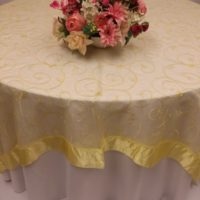 Yellow Satin Trim