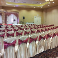 Bridal Satin Chair Covers