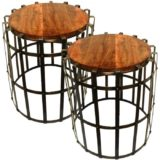 2pc-iron-wooden-table