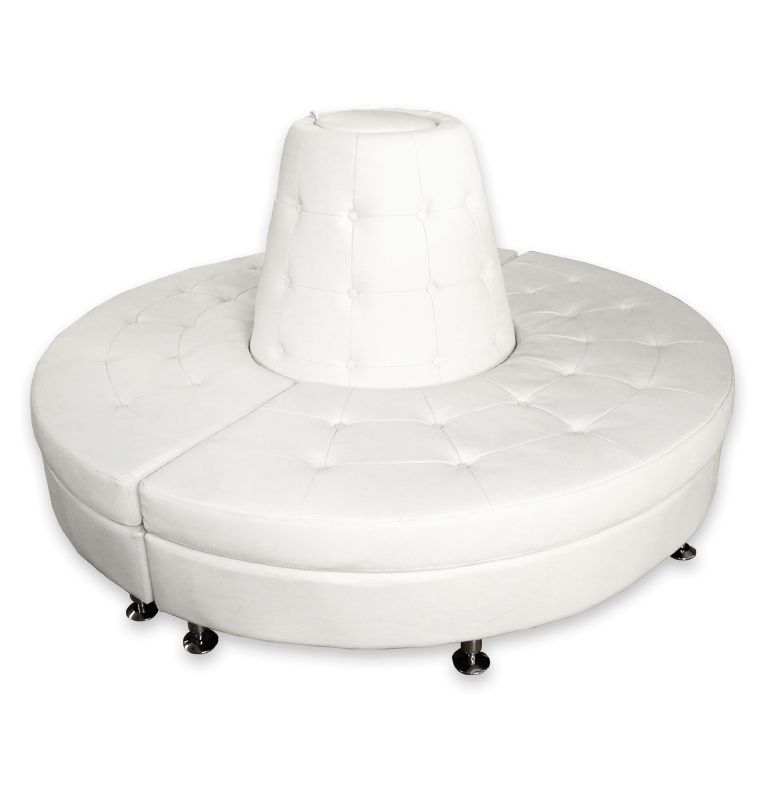 Fantastic White Circle Ottoman Gmtry Best Dining Table And Chair Ideas Images Gmtryco