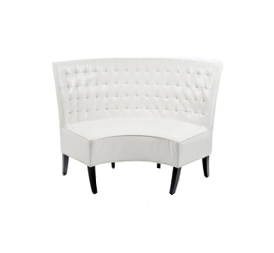 Surprising White Curved Banquette Caraccident5 Cool Chair Designs And Ideas Caraccident5Info