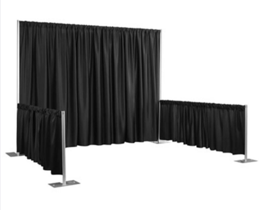 Pipe and Drape Booth - All Seasons Party Linen Rental