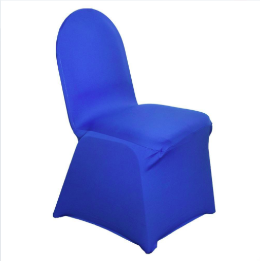 Remarkable Royal Blue Spandex Chair Cover Machost Co Dining Chair Design Ideas Machostcouk