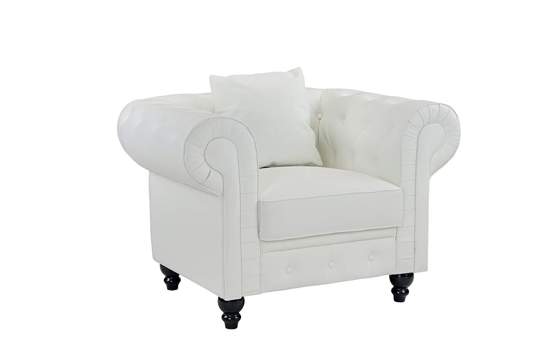 White Tufted Armchair All Seasons